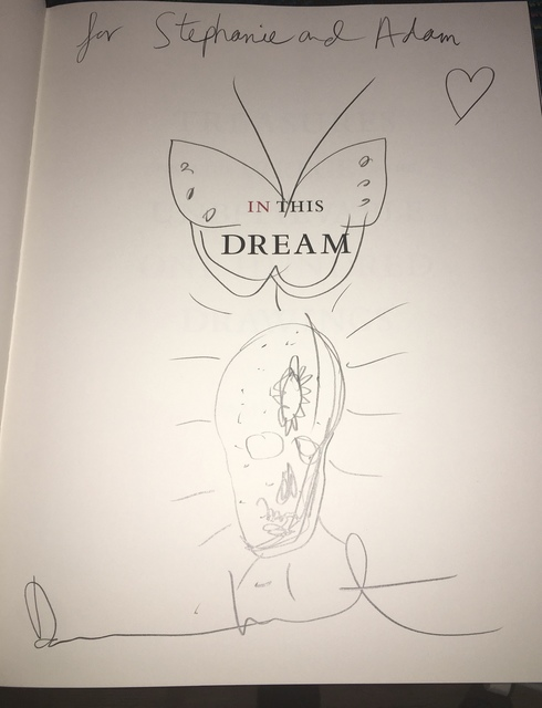 "Damien Hirst, 'Skull & Butterfly drawing in book. SIGNED ""Treasures From The Wreck of the Unbelievable: One Hundred Drawings (Volume II)""', 2017, MultiplesInc Projects"