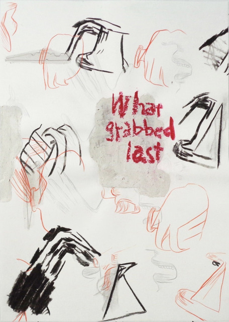 Moe Yoshida Veggetti, 'What grabbed last', 2018, Drawing, Collage or other Work on Paper, Pencil, pastel, charcoal, papier maché on paper., GALLERY TAGA 2
