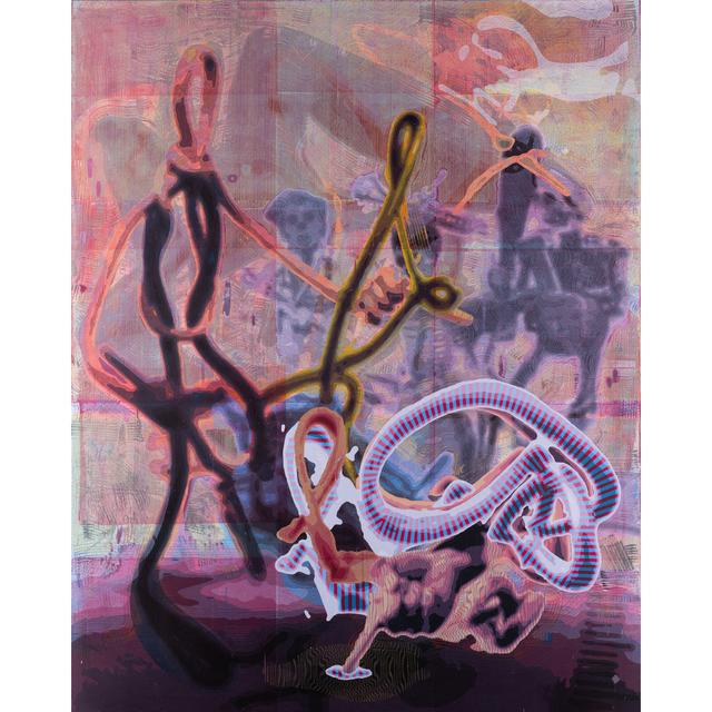 Markus Oehlen, 'Letztes Drahtbild n°1,  Acrylic on canvas', 2010, PIASA