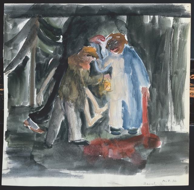 , 'Drei Mörder im Wald,' 1936, Galerie Krinzinger