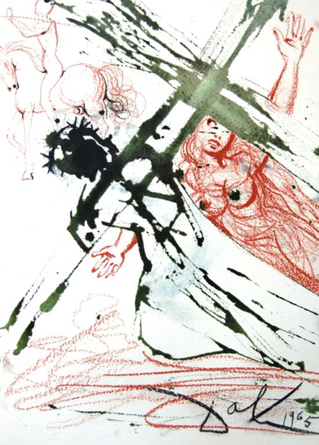 Salvador Dalí, 'He Went Out Carrying His Own Cross', 1967, Print, Original colored lithograph on heavy rag paper, Baterbys