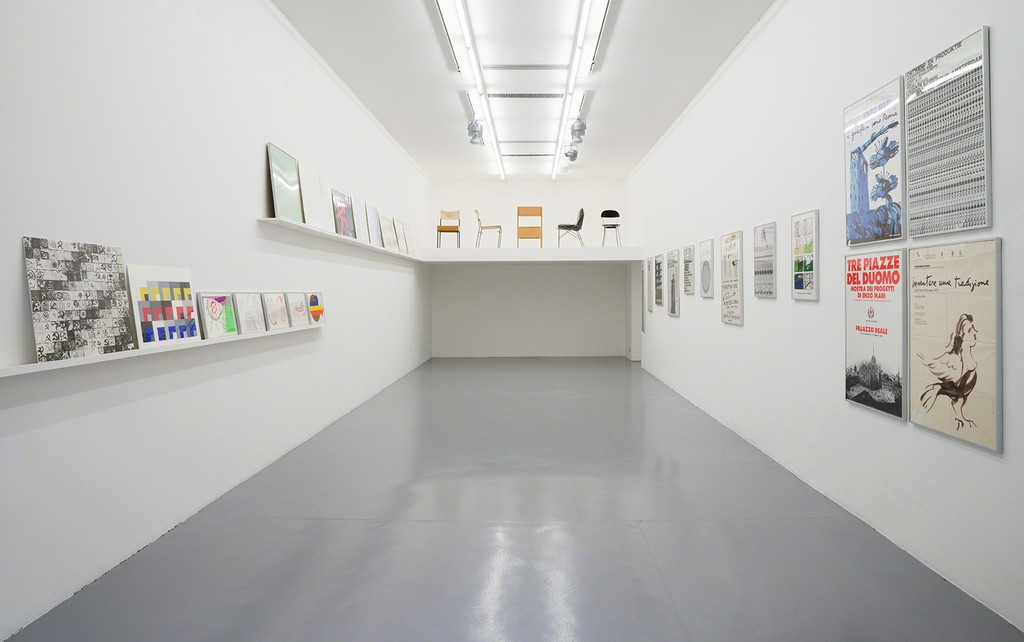 Enzo Mari, installation view at Galleria Minini, 2015, first room