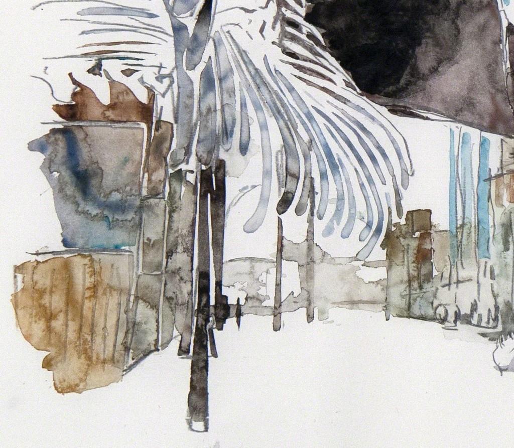Huang Yong Ping, Dessin préparatoire pour Empires, Monumenta 2016, aquarelle sur papier, 2015, © ADAGP Huang Yong Ping, courtesy de l'artiste et kamel mennour, France