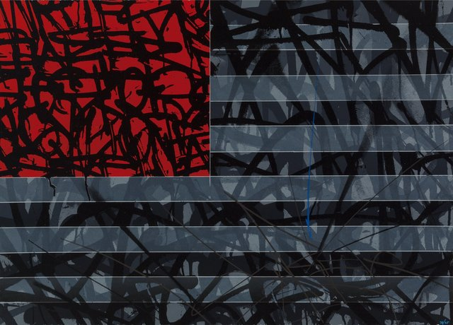 Saber, 'Red Flag', 2013, Screenprint in colors on Coventry Rag paper, Heritage Auctions