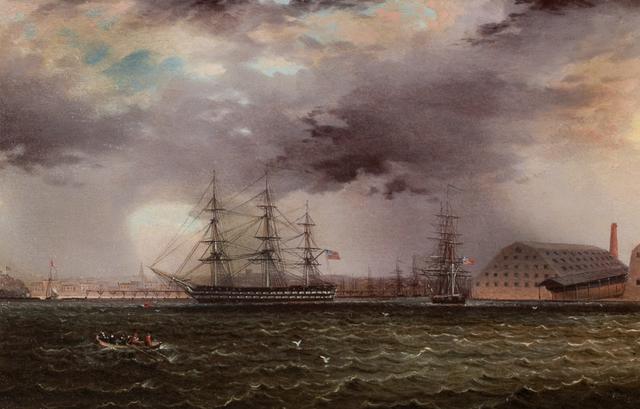 , 'Old Brooklyn Navy Yard, East River, New York,' , Questroyal Fine Art