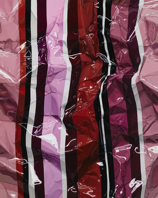 , 'Crumpled various stripe(red),' 2017, GALLERY GABI