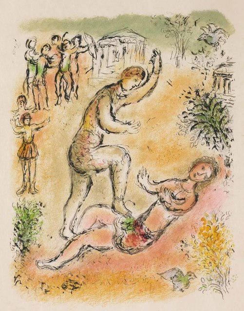 Marc Chagall, 'Combat Between Ulysses and Irus (M.810, L'Odyssée)', 1974, Martin Lawrence Galleries