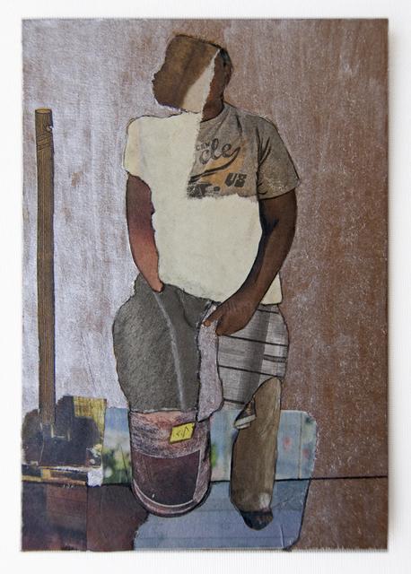 , 'Man_FeetinBucket (Cardboard Portraits Series),' 2015, Fanny Allié + Ketta Ioannidou