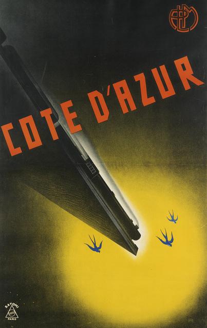 MUNETSUGU SATOMI, 'COTE D'AZUR', 1934, Swann Auction Galleries