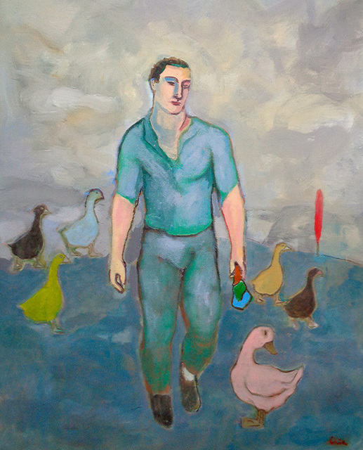 , 'Walking the Geese,' 2017, Marc Straus