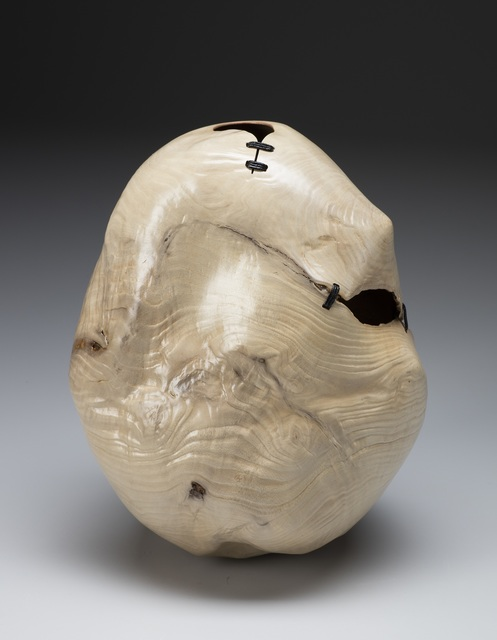 , 'Bleached Madrone Root Stitched Vessel,' 2018, Wood Symphony Gallery