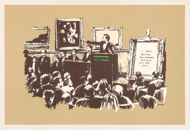Banksy, 'Morons (Sepia)', 2007, Tate Ward Auctions
