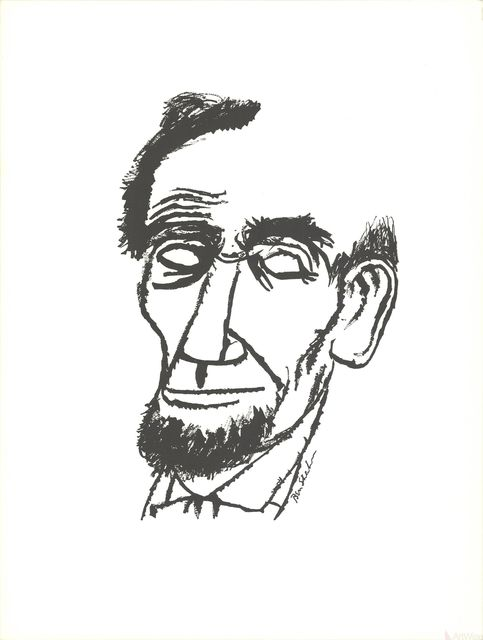 Ben Shahn, 'Portrait of Abraham Lincoln', 1965, Print, Stone Lithograph, ArtWise