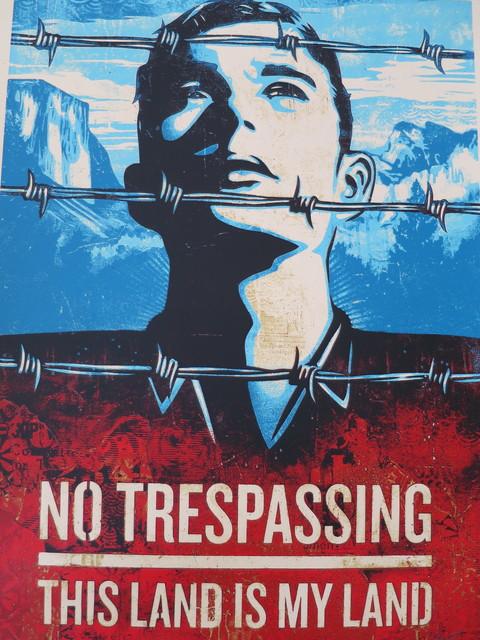 Shepard Fairey (OBEY), 'No Trepassing', 2012, AYNAC Gallery