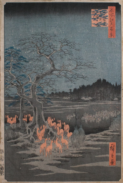 , 'Foxfires on New Year's a Oji,' 1857, Ronin Gallery