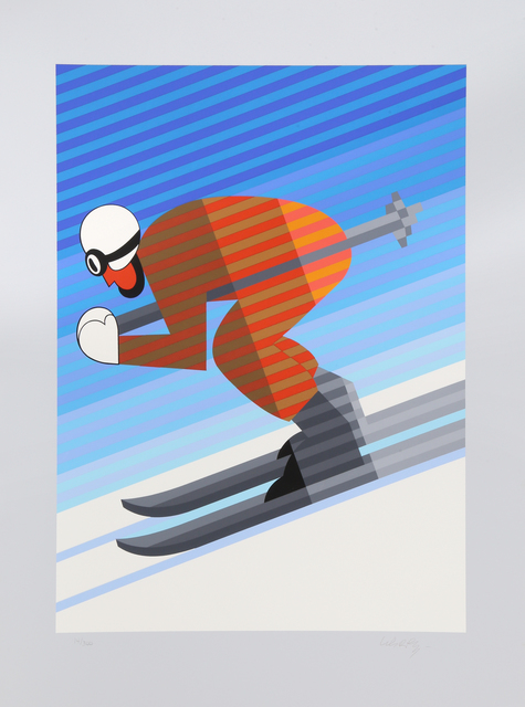 Victor Vasarely, 'Skier', 1984, RoGallery