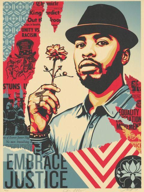 Shepard Fairey, 'Embrace Justice', 2017, NextStreet Gallery