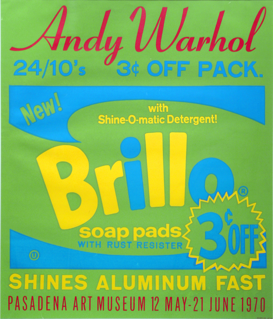 Andy Warhol, 'Brillo Soap Pads, Pasadena Art Museum Exhibition, Exhibition Advertisement', 1970, Woodward Gallery