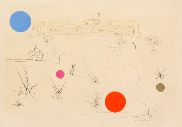 Salvador Dalí, 'Chicago', Hindman