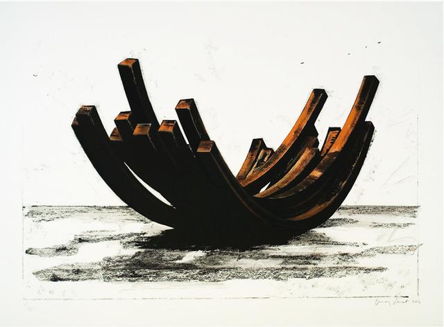 Bernar Venet, '97.5 Arc x 14', 2004, Print, Silkscreen, F.L. Braswell Fine Art