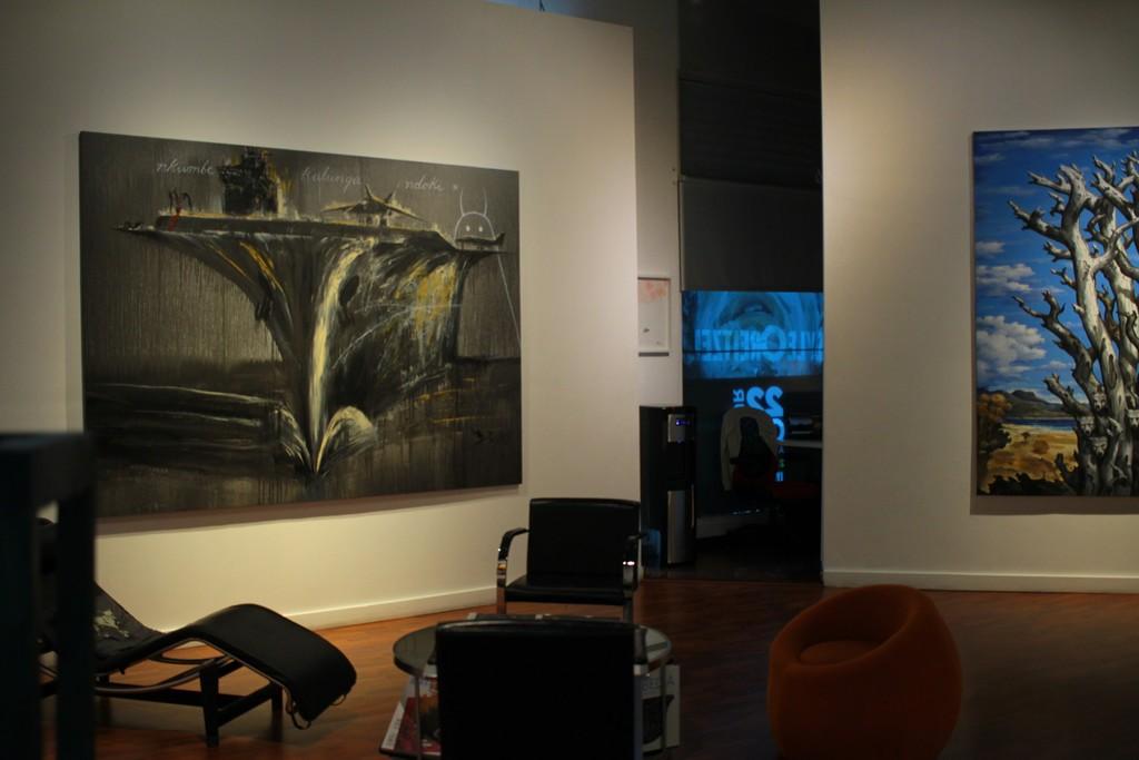 Partial view of a work by Jose Bedia & Jose Garcia Cordero.