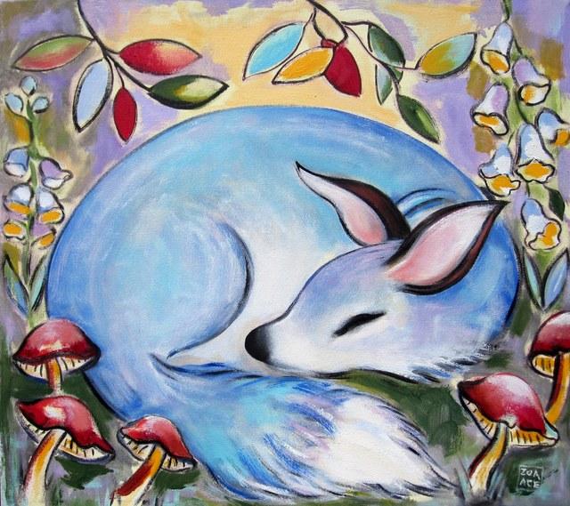 Zoa Ace, 'Blue Fox', 2019, Abend Gallery