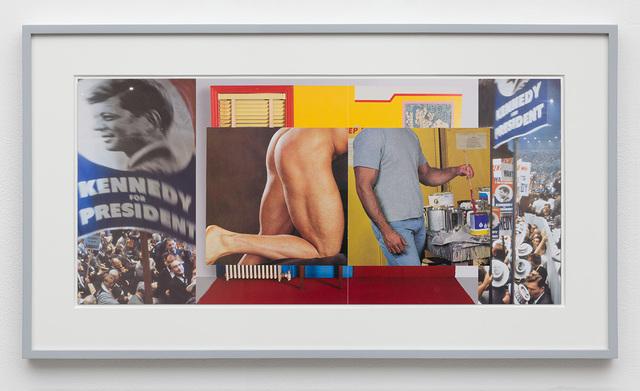 , 'Gutter Collage 18 (Democratic Convention—Wesselmann—ass—painter),' 2018, David Kordansky Gallery