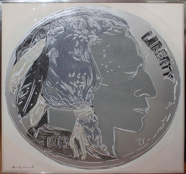 Andy Warhol, 'Indian Head Nickel (FS II.385)', 1986, Print, Screenprint on Lenox Museum Board, Elizabeth Clement Fine Art