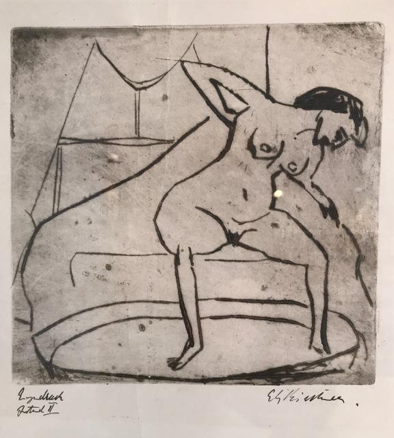 , 'Sich abtrocknendes Mädchen mit Beinen in Tub (Girl Drying Off with Legs in Tub),' 1908, Alice Adam Ltd.