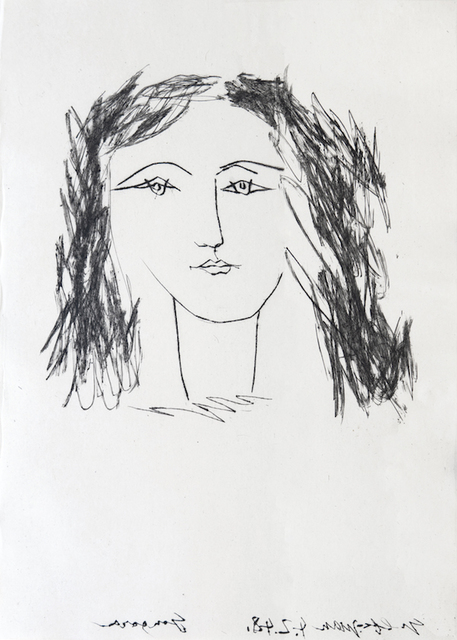 Pablo Picasso, 'Head of a Woman with Dishevelled Hair', 1948, Eames Fine Art