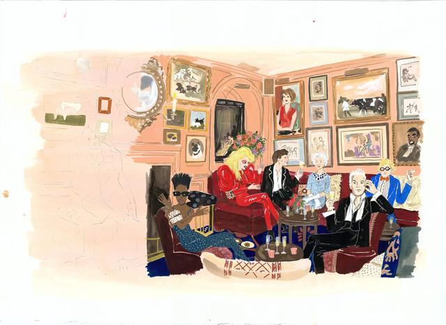 , 'Chez Annabel's,' 2014, Gavlak