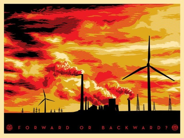 Shepard Fairey, 'Last mountain forward or backward', 2011, Rudolf Budja Gallery