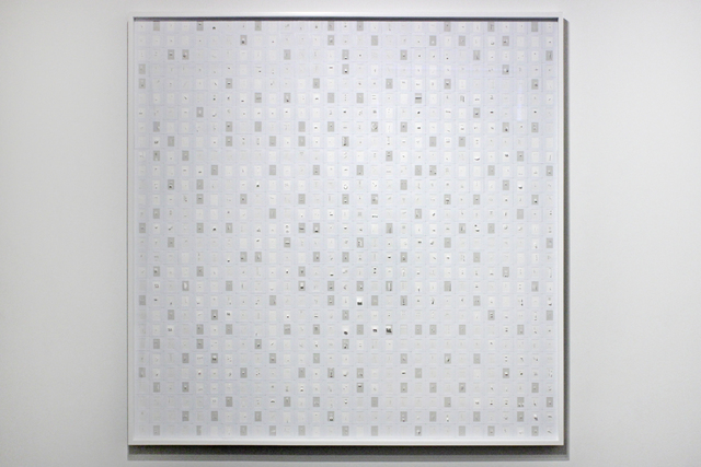 , 'Spelling Square (B & W Sliding),' 2013, Josée Bienvenu