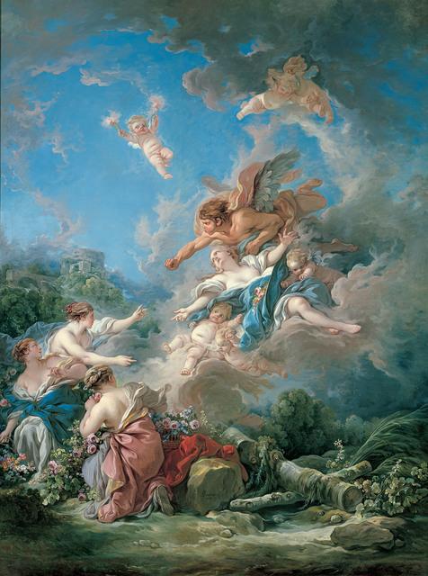 , 'Boreas Abducting Oreithyia,,' 1769, Kimbell Art Museum