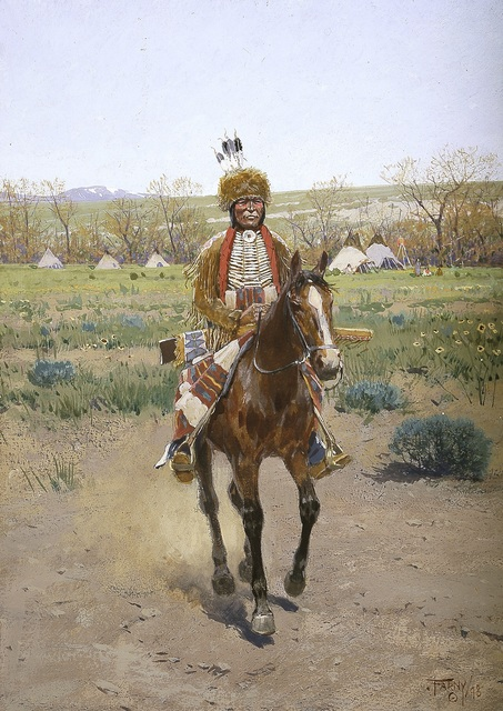 , 'Sioux Indian,' 1898, Blanton Museum of Art