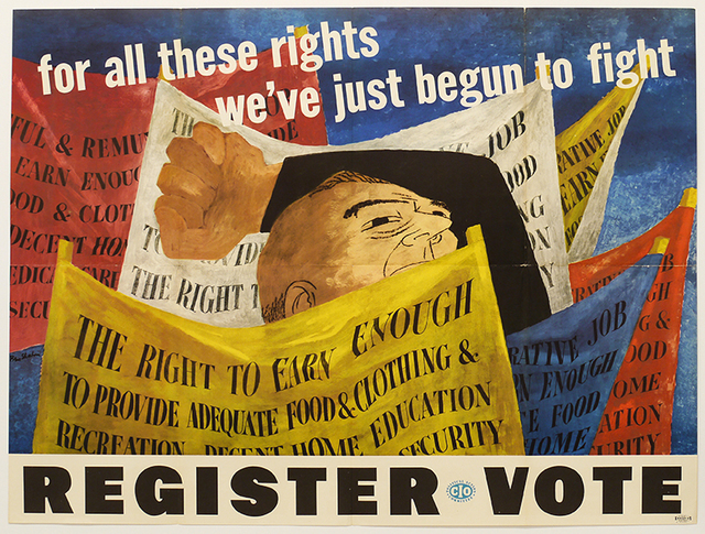 Ben Shahn, 'For all these rights we've just begun to fight ', 1946, DC Moore Gallery