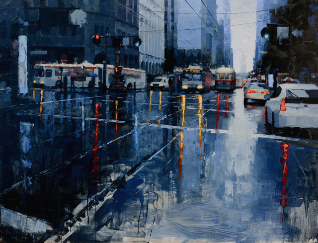 , 'Market Street in Blue,' 2016, Abend Gallery