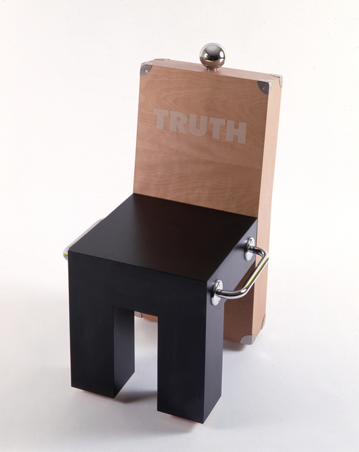, 'Truth chair,' 1987, AIGA