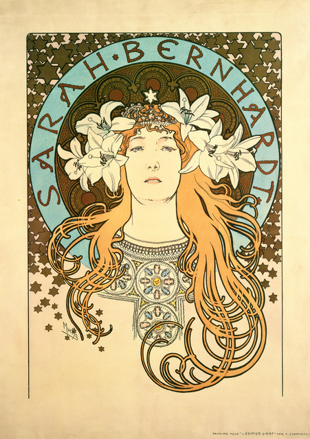 , 'Poster for La Plume, Sarah Bernhardt as Mélissinde in the play La Princesse Lointaine,' 1897, Arken Museum of Modern Art