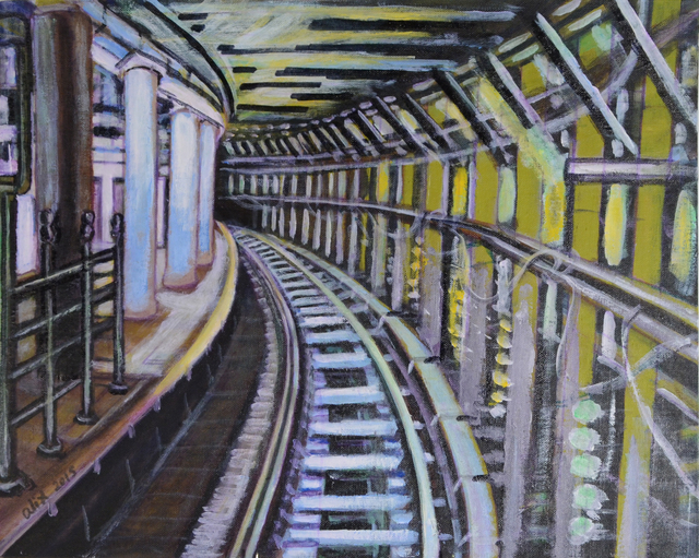 , 'Swirling Tunnel,' 2015, Fountain House Gallery