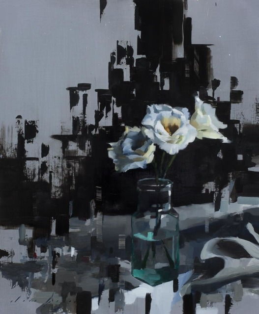 , 'Lisianthus and Black,' 2018, Abend Gallery