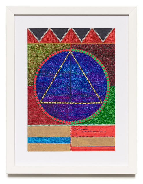 Sharmistha Ray, 'everythinghascometopass', 2020, Drawing, Collage or other Work on Paper, Automatic writing with colored pens, markers, stickers and washi tape on archival sketchbook paper, Carrie Secrist Gallery