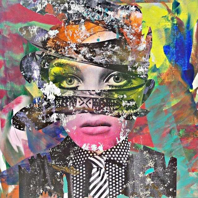 DAIN, 'If The Shoe Fits', 2016, Painting, Wheat-paste, acrylic, spray paint on canvas, Avant Gallery