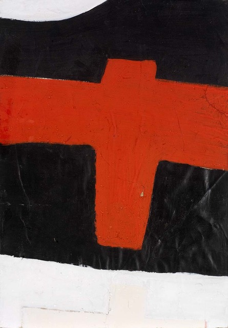 , 'Cross (Red on Black),' 1969, Osborne Samuel