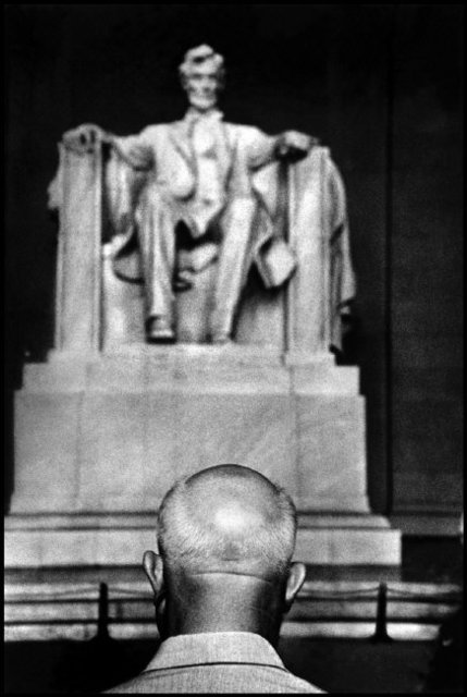 , 'Nikita Khrushchev in front of the Lincoln Memorial. Washington, D.C, USA. ,' 1959, Magnum Photos