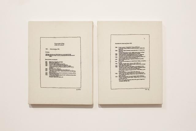 , 'Curriculum vitae (díptico),' 1997, MARSO