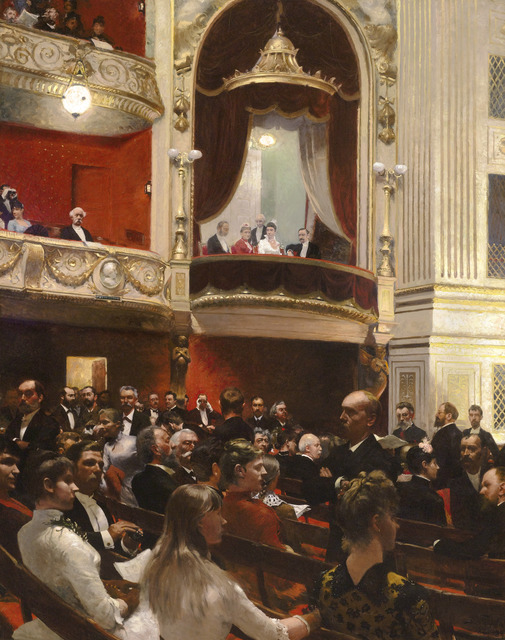 , 'An Evening at the Royal Theatre, Copenhagen,' 1887-1888, M.S. Rau