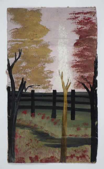 Frank Walter, 'Fence and Broken Trees with Pink Sky', Ingleby Gallery