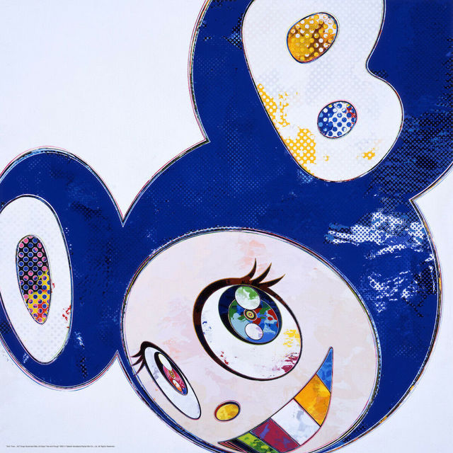 Takashi Murakami, 'And Then... (Blue)', 2013, Print, Offset lithograph in colors with cold stamping, michael lisi / contemporary art