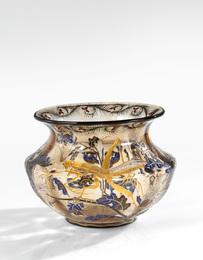 """""""Sauterelle et Chrysanthèmes"""" Vase"""
